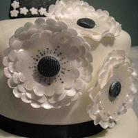 1920's two tier shoe, handbag and flowers, black and white by Rachel