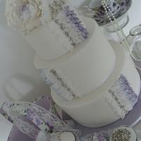 Lilac Peony cake
