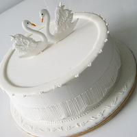 Swans Cake by Fiso
