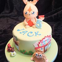 Moshi monster cake with large Katsuma