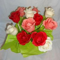 Chocolate Cakepop Roses