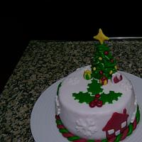 Christmas cake i did for a friend