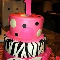 Zebra Polka Dot Cake by TastyMemoriesCakes