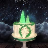 Christmas cake with light