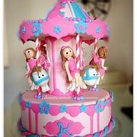 Carousel princess cake