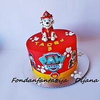 Marshall Paw patrol themed cake