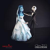 Topper With «Corpse bride» and «the Nightmare before Christmas»