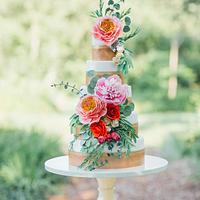 Bohemian Sugar Flower Wedding Cake I Boho Wedding Cake