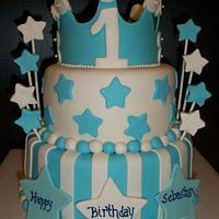 Prince 1st Birthday Cake