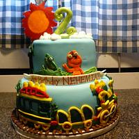 Dinosaur Train cake by Melissa Cook