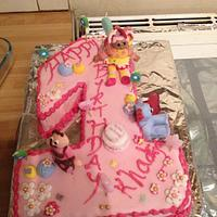 in the night garden number one cake