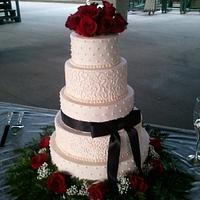 elegant rose wedding
