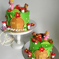 Similar masha and the bear cakes