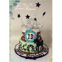 Horse cowgirl birthday cake