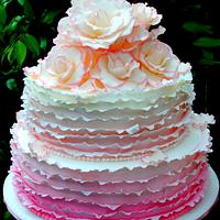 Pink Ruffles by Amelia's Cakes