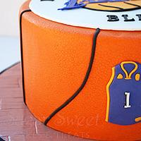 LA Lakers Basketball Cake by Angela, SugarSweetCakes&Treats