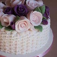 Rose Basket Fruit Cake