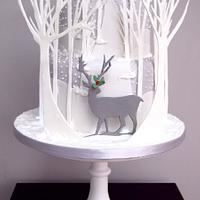 Reindeer in a winter wonderland