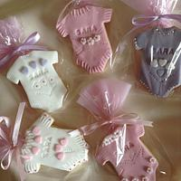 Cookies decorated in sugar paste