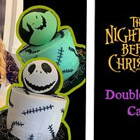 JACK AND OOGIE BOOGIE DOUBLE-SIDED CAKE!