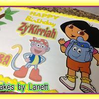 Dora Sheet Cake by lanett