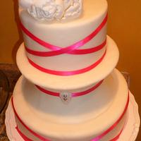 A VERY SIMPLE WEDDING CAKE by Linda