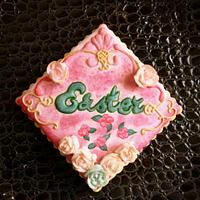 'Easter' Plaque Cookie.