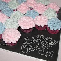 Pretty petal cupcakes