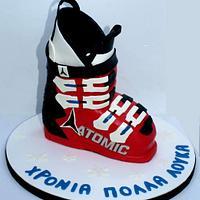 Ski boot 3d cake