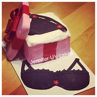 Lingerie shower cake