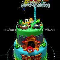 Angry Birds Theme Cake