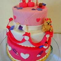Sweet Baby Girl Tiered Shower Cake