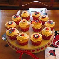 Ladybug Baby Shower Cupcakes