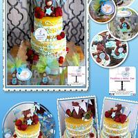 NAKED CAKE TEDDY BEAR