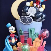 Duck Avenger Cake for Cake Con International Collaboration
