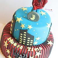 spiderman cake for little guy