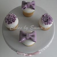 Purple Cupcakes made for a family member by CakesByEmmaB