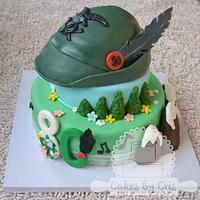 Alpini cake - mountains military cake