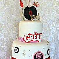 Grease Birthday Cake
