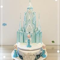 Elsa castle cake