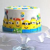 Minion cake!! little different