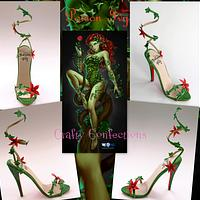 Poison Ivy: Comic book themed shoe collection for Cake Masters fashion issue 21, June 2014