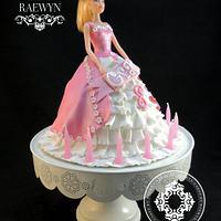 Barbie Cake for Grace :) by Raewyn Read Cake Design