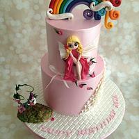 Little Fairy- First Birthday Cake