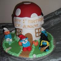 Halloween Smurf cake