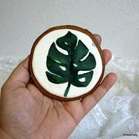 Handpainted Monstera Leaf