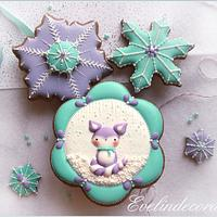 Winter fox cookies