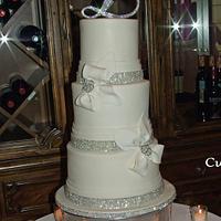 Simple elegant wedding cake!