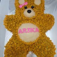 Teddy bear in fresh cream