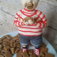 Willy Wonka and the chocolate factory collaboration cake